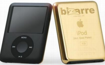 iPod Nano Bizzare di Goldgenie, con oro a 24 carati