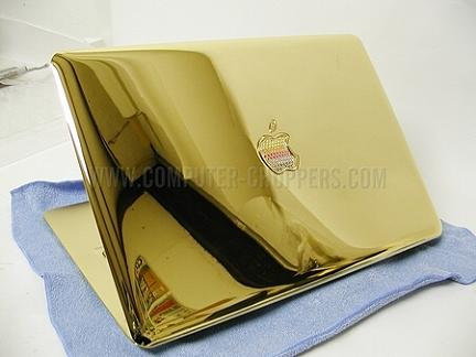 Hi Gold Tech: Gold Macbook Air con logo arcobaleno