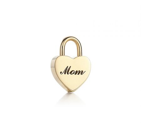 mom heart lock charm