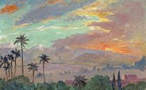 Aste: Sunset over the Atlas Mountains di Winston Churchill
