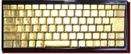 Golden Keyboard: la tastiera per computer in oro