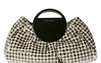 Borsa Armani Check Bag in pitone