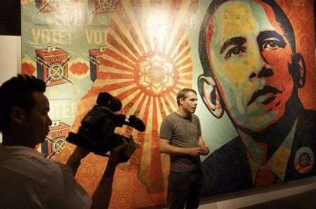 Shepard Fairey, Obama in mostra a Boston
