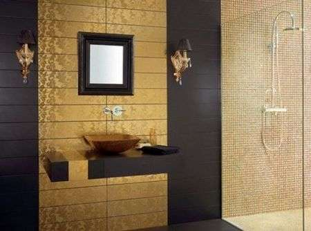 Damasco un bagno in stile gold my luxury