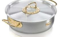 Limited edition: pentola in oro e diamanti