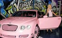 Una Bentley rosa per Paris Hilton