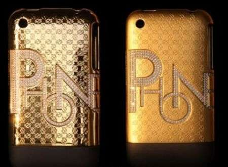 iPhone, cover in oro e diamanti di VX Club