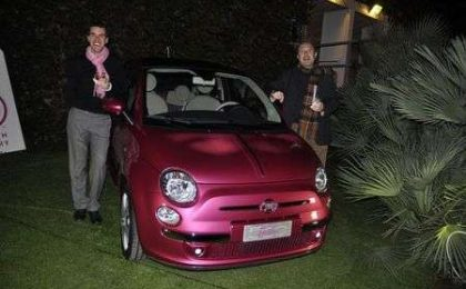 Barbie, Fiat 500 al party rosa shocking
