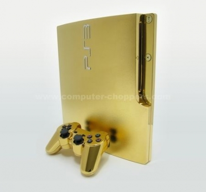 playstation 3 slim gold