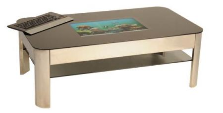 Tecnologia di lusso: hi-tech platinum coffee table