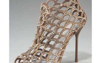 Scarpe: Crystal Cage Booties by Sergio Rossi