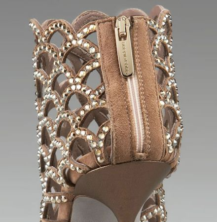 crystal cage booties sergio rossi