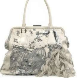 Borse Valentino, la Alice Glam sequin and feather tote