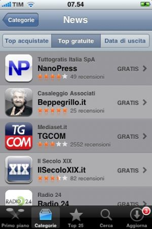 IPhone: 50mila download in 15 giorni per App Nanopress