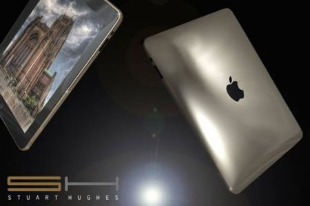 iPad Supreme Ice Edition in oro bianco by Stuart Hughes