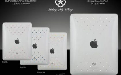 Custodia tempestata di Swarovski per iPad e iPhone