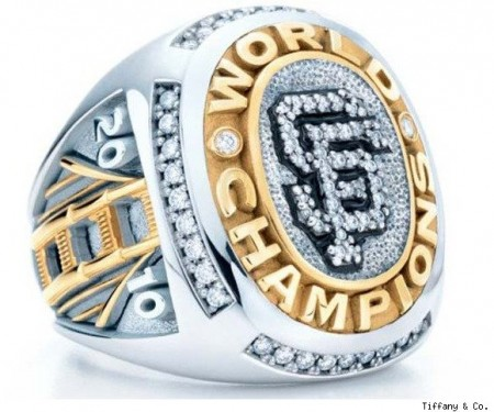 Anello di lusso by Tiffany&Co per la vittoria alle World Series dei San Francisco Giant
