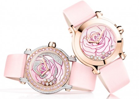 "Diamanti e oro rosa per il nuovo ""La Vie en Rose"" Happy Sport by Chopard"