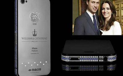 Will e Kate: il prezioso iPhone 4 Royal Wedding di Goldgenie