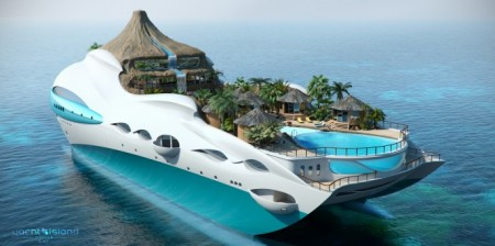 Tropical Paradise Island, lo yacht con un'isola tropicale a bordo by Yacht Design Island