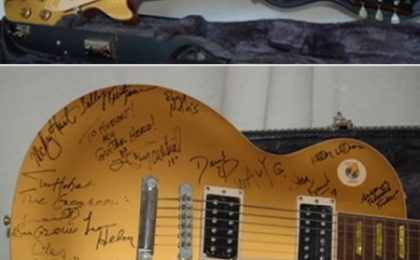 All'asta una chitarra Gibson Gold Les Paul autografata da star del rock and blues