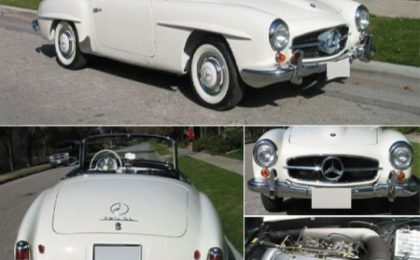 130mila dollari per la Mercedes-Benz del 1959 di Sherly Crow all'asta