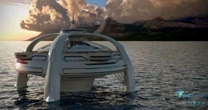 Utopia, l'isola artificiale galleggiante futuristica by BMY Nigel Gee e Yacht Design Island