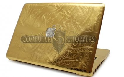 Oro a 24 carati per il Macbook Pro più chic by Computer-Choppers