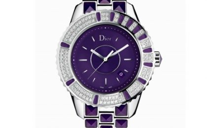 Diamanti e zaffiri nei nuovi orologi Dior Christal Full Diamond