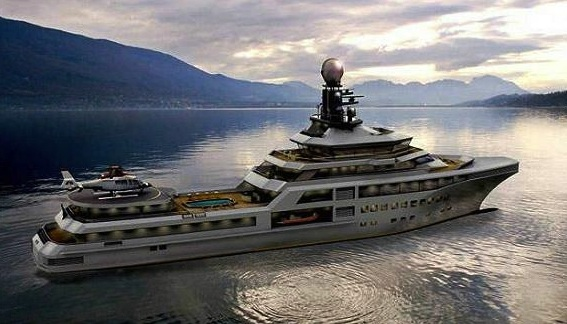 PJ World, il nuovo superyacht in stile James Bond da 150 milioni di dollari