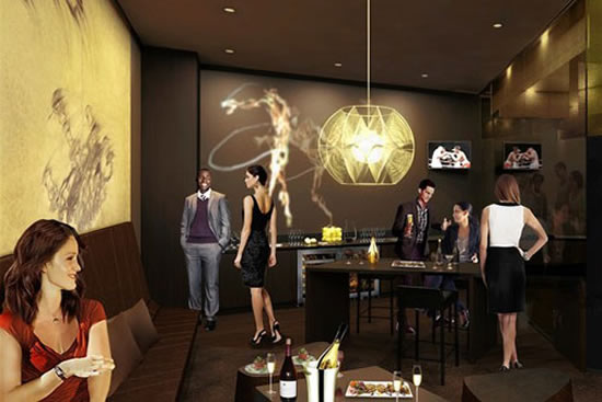 Nuove suite di lusso The Vault at Barclays Center a New York firmate Jay-Z