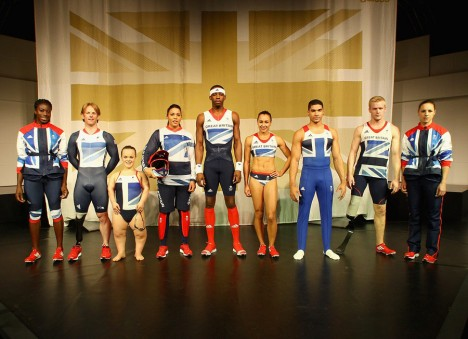 Team GB models olympics 2012 kit 468x339