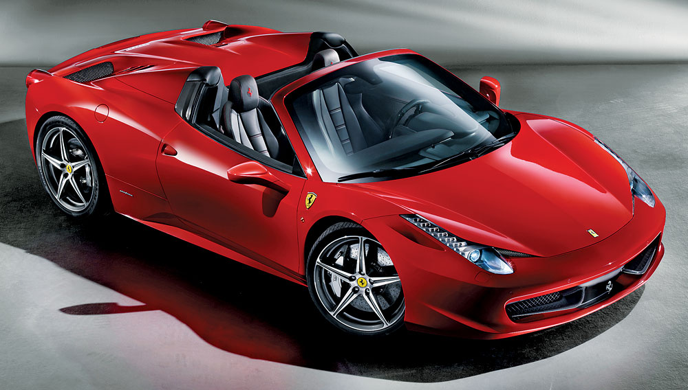 "Ferrari 458 Spider eletta ""Best of the Best 2012 Convertibles"" da Robb Report"