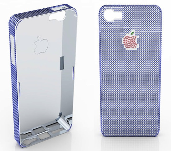 La cover per l'iPhone 5 in zaffiri e pietre preziose by Natural Sapphire Company