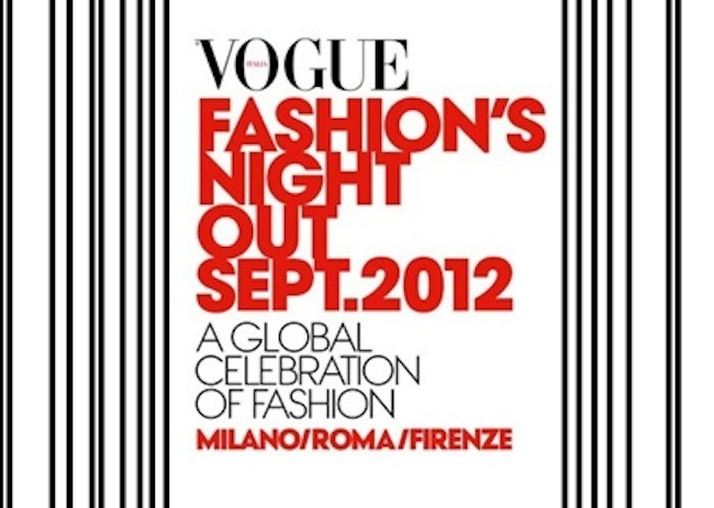 Vogue Fashion's Night Out 2012 a Milano, torna la notte più attesa dello shopping