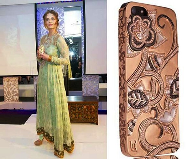 La cover per iPhone5 in oro e diamanti più lussuosa by UUnique e Mischa Barton
