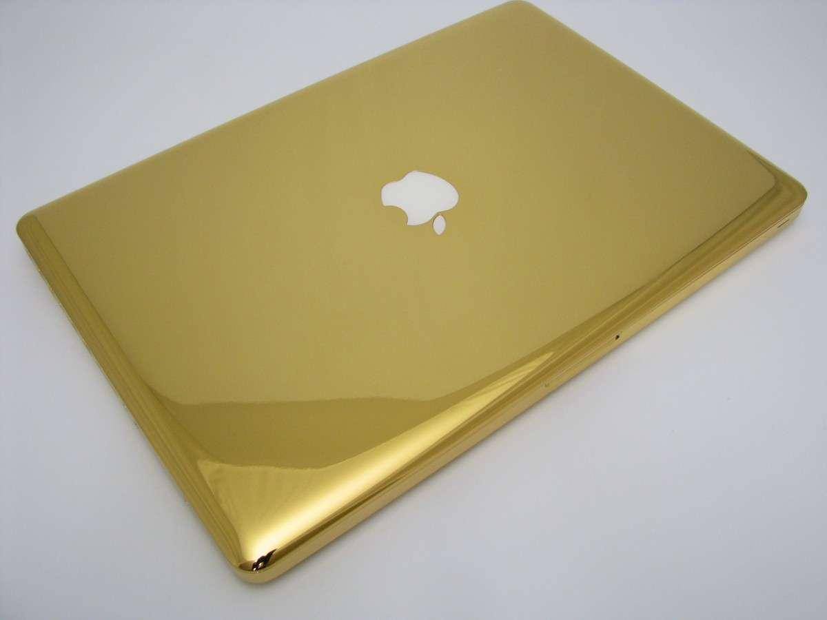 Oro, platino e diamanti per Macbook e iPhone by Computer Choppers [FOTO]