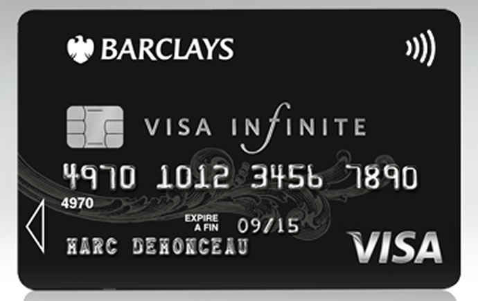 barclays infinite card