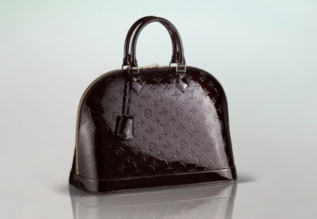 borsa louis vuitton alma in vernice