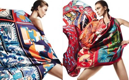 Foulard Hermès Primavera-Estate 2015, accessori di stile per un look chic [FOTO]
