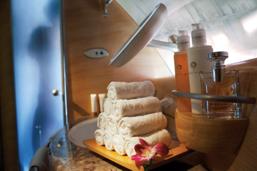 The Emirates Airlines Shower Spa