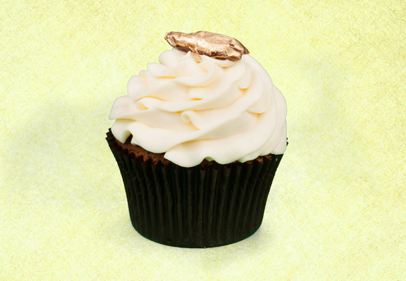 cupcake decorato in oro