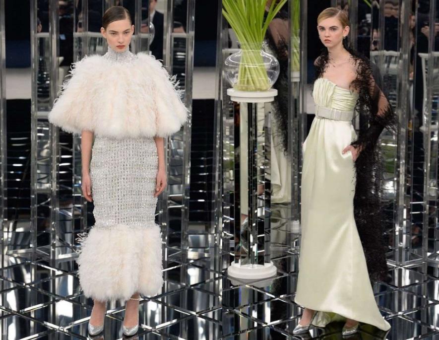 Abiti bicolor Chanel Haute Couture 2017