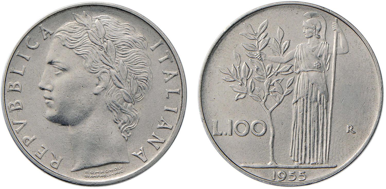 100 lire 1955