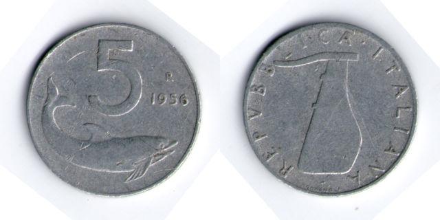 5 lire 1956