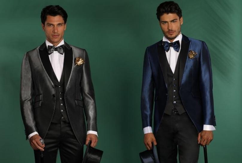 Abiti da sposo con giacche laminate Petrelli