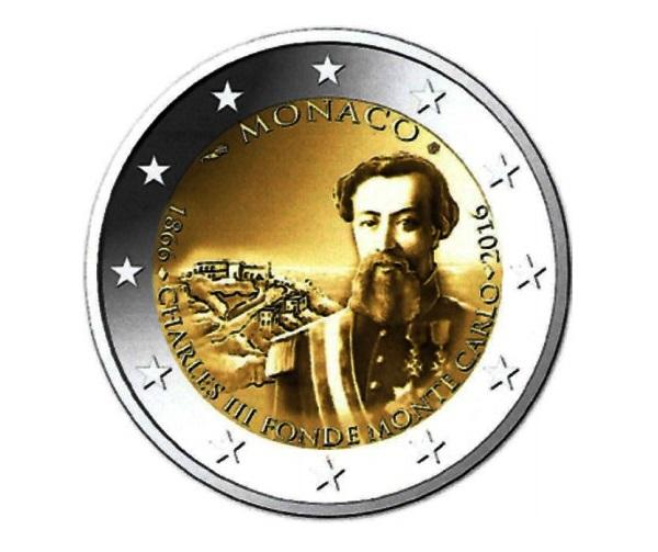 Due euro commemorativi di Monaco