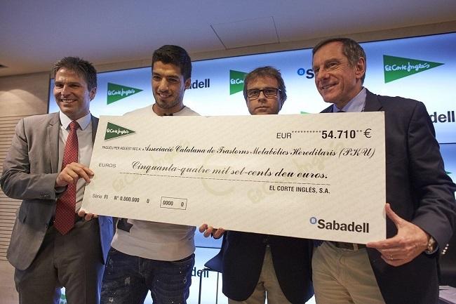 Luis Suarez sponsors charity event