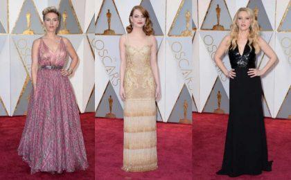 Oscar 2017: abiti, gioielli e accessori delle star sul red carpet più atteso del cinema [FOTO]