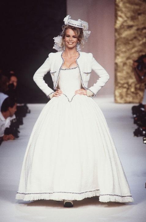 Abito da sposa Chanel dalla collezione 1991 1992